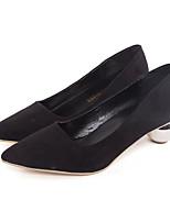 Недорогие -Жен. Обувь Нубук Весна / Осень Удобная обувь Обувь на каблуках Гетеротипическая пятка Черный