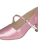 Недорогие -Жен. Обувь для модерна Сатин На каблуках В помещении Каблуки на заказ Персонализируемая Танцевальная обувь Черный / Розовый / Миндальный