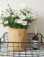 abordables -Fleurs artificielles 1 Une succursale style pastoral / Style Simple Marguerites Fleur de Table
