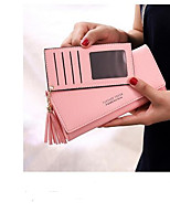 cheap -Women's Bags PU Wallet Buttons for Casual Black / Blushing Pink / Gray