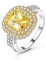 voordelige -Dames Bloem Bandring / Verlovingsring - 1 Cirkelvorm Vintage / Elegant Roze / Lichtbruin Ring Voor Bruiloft / Verloving / Ceremonie