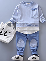 cheap -Kids Unisex Geometric Long Sleeves Clothing Set