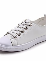 cheap -Girls' Shoes Leather Spring Fall Comfort Sneakers for Casual White Black