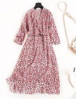 cheap -Women's Vintage Street chic A Line Dress - Polka Dot