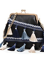 cheap -Women's Bags PU Tote Tassel for Casual Office & Career All Seasons White Black