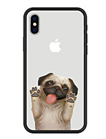 abordables -Funda Para Apple iPhone X iPhone 8 Plus Diseños Funda Trasera Perro Caricatura Animal Dura Acrílico para iPhone X iPhone 8 Plus iPhone 8