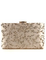 cheap -Women's Bags Terylene Evening Bag Appliques / Crystals Almond