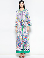 cheap -MARY YAN&YU Women's Vintage Boho Swing Dress - Floral