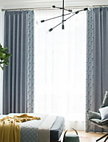cheap -Sheer Curtains Shades Living Room Contemporary Cotton / Polyester Printed