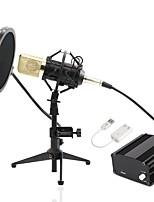 baratos -KEBTYVOR BM700-Full set PC Com Fio Microfone KIT Microfone Condensador Microfone Portátil Roupa Para PC