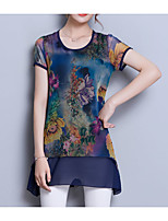 cheap -Women's Basic Blouse-Floral,Print