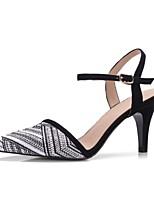 baratos -Mulheres Sapatos Materiais Customizados Primavera / Outono Conforto / Plataforma Básica Saltos Salto Agulha Dedo Apontado Branco /