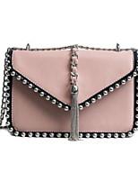 cheap -Women's Bags PU Shoulder Bag Buttons Black / Blushing Pink / Purple