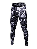 cheap -Men's Running Tights Fast Dry, Anatomic Design, Stretchy Tights / Pants / Trousers Exercise & Fitness / Outdoor Exercise / Gym Polyester,