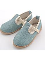 cheap -Girls' Shoes Linen Spring Fall Comfort Flats for Casual Beige Light Blue