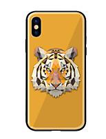 abordables -Coque Pour Apple iPhone X iPhone 8 Motif Coque Animal Dur Verre Trempé pour iPhone X iPhone 8 Plus iPhone 8 iPhone 7 iPhone 6s Plus