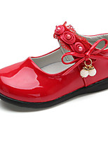 cheap -Girls' Shoes PU Spring Ballerina Comfort Flats for Casual White Black Red