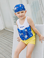 cheap -SABOLAY Boys' Swimsuit Comfortable Detachable Cap Polyester Spandex Chinlon Sleeveless Swim Dress Swimwear Swimming Outdoor Exercise