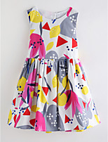 cheap -Girl's Daily Floral Dress Summer Sleeveless Cute Basic White