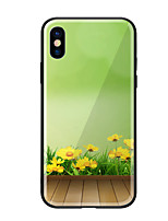 economico -Custodia Per Apple iPhone X iPhone 8 Fantasia/disegno Per retro Fiore decorativo Resistente Vetro temperato per iPhone X iPhone 8 Plus