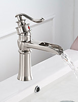 cheap -Faucet Set - Waterfall Brushed Centerset Single Handle One Hole