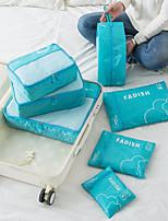 economico -Unisex Sacchetti Terylene Postino Set di borsa da 7 pacchetti Cerniera per All'aperto Verde / Rosso / Grigio