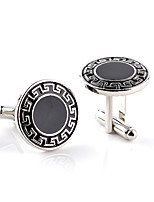 cheap -Circle Black Cufflinks Alloy Fashion European Wedding Formal Men's Costume Jewelry