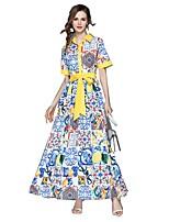 cheap -SHE IN SUN Women's Basic Street chic Swing Dress - Floral