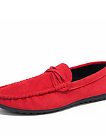 preiswerte -Herrn Schuhe Beflockung Frühling / Herbst Komfort Sneakers Schwarz / Braun / Rot