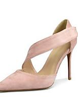 abordables -Femme Chaussures Tissu Eté Escarpin Basique Chaussures à Talons Talon Aiguille Bout pointu Noir / Rouge / Chair / Soirée & Evénement