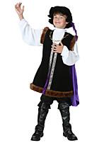 abordables -Shakespeare Tenue Costume Garçon Costume Noir Vintage Cosplay Cuir Manches Longues