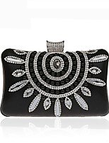 cheap -Women's Bags Evening Bag Crystal Detailing Pearl Detailing for Wedding Event / Party All Seasons Gold Black Silver Red Fuchsia