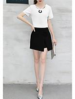 abordables -Mujer Camisa - Un Color Falda