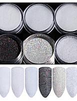 cheap -6pcs Tool Bags Glamorous Glitter Art Supplies Wedding Party Dailywear Nail Art Tips Nail Art Design
