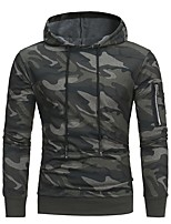 cheap -Men's Basic Hoodie - Color Block / Camouflage, Print