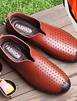 Недорогие -Муж. обувь Искусственное волокно Весна Осень Удобная обувь Мокасины и Свитер для Повседневные Черный Коричневый Синий