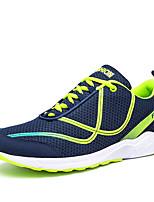 abordables -Hombre Zapatos Tul Primavera / Otoño Confort Zapatillas de deporte Negro / blanco / Verde y Azul