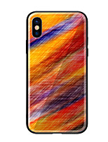 cheap -Case For Apple iPhone X iPhone 8 Pattern Back Cover Color Gradient Hard Tempered Glass for iPhone X iPhone 8 Plus iPhone 8 iPhone 7