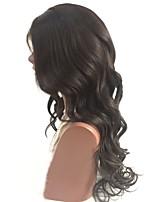 Недорогие -Не подвергавшиеся окрашиванию Парик Перуанские волосы Естественные кудри Волнистый Стрижка каскад 130% плотность С детскими волосами