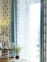 preiswerte -Vorhänge drapiert Wohnzimmer Geometrisch Zeitgenössisch Baumwolle / Polyester Bedruckt