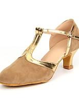 cheap -Women's Modern Suede Heel Indoor Splicing Customized Heel Brown Black/Gold Blue 2 - 2 3/4inch Customizable