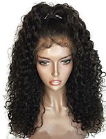 cheap -Virgin Human Hair Wig Brazilian Hair Curly Layered Haircut 130% Density With Baby Hair For Black Women Black Short Long Mid Length Women's