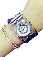 cheap -Women's Quartz Wrist Watch Japanese Chronograph / Imitation Diamond Alloy Band Luxury / Sparkle Silver / Gold / Rose Gold