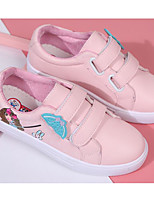 cheap -Girls' Shoes PU Spring Fall Comfort Sneakers for Casual White Pink