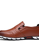 cheap -Men's Shoes Nappa Leather Spring Fall Driving Shoes Comfort Loafers & Slip-Ons for Casual Outdoor Black Brown Blue
