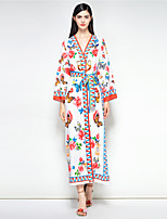 cheap -MARY YAN&YU Women's Vintage Boho Swing Dress - Floral