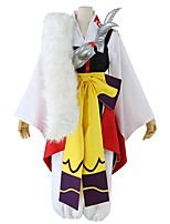 cheap -Inspired by InuYasha Sesshomaru Anime Cosplay Costumes Cosplay Suits Other Long Sleeves Vest Pants Bow More Accessories Sash / Ribbon