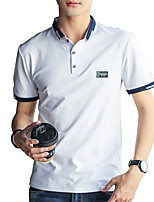 cheap -Men's Basic Street chic Polo - Solid Colored