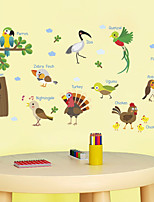 cheap -Decorative Wall Stickers - Plane Wall Stickers Animal Wall Stickers Animals Characters Living Room Bedroom Bathroom Kitchen Dining Room