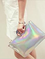 preiswerte -Damen Taschen PU Unterarmtasche Reißverschluss für Normal Weiß / Rosa